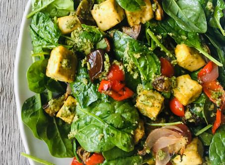 Warm Tofu Mediterranean Salad