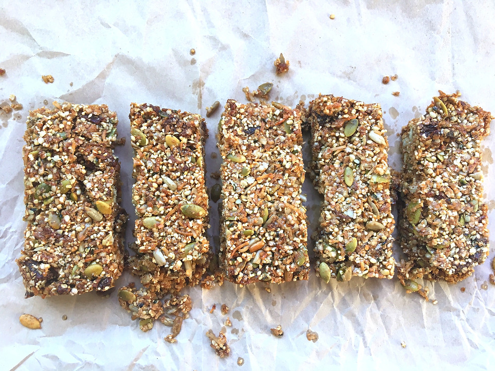 Gluten free, nut free and vegan friendly apricot and coconut muesli bars