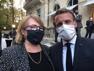 Avec le Président de la République Emmanuel Macron au ministère des relations avec le parlement
