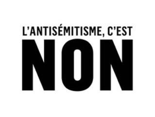 L'antisémitisme c'est non !