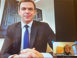 Échanges avec le ministre de la santé  Olivier Véran : la vaccination s'accélère !