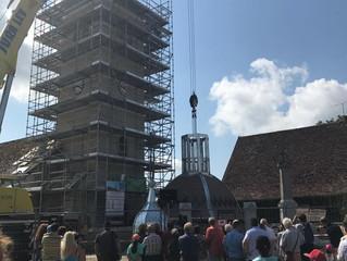 Inauguration du clocher de Dompierre sur Mont