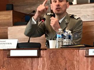 Loi de programmation militaire : conférence avec le colonel Montfrin au conseil départemental du Jur