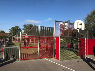 Un terrain multisports et une aire de jeux à Courlaoux