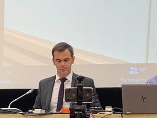 Réunion de travail avec Olivier Veran ministre de la santé sur le Ségur de la santé.