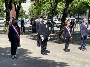 Commémoration départementale du  8 mai 1945 à Lons-le-Saunier