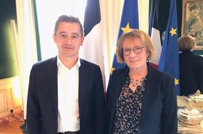 Rencontre à Beauvau avec le Ministre de l'Interieur Monsieur Gérald Darmanin