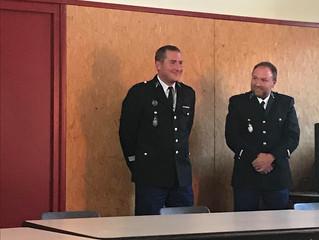 Cérémonie de prise de fonction du Commandant de la Communauté de brigade de Bletterans -Domblans