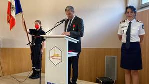 Cérémonie de remise de la Légion d'honneur à Annabelle Carron