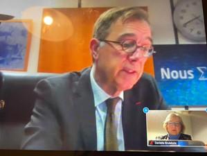 Échanges avec Xavier Niel directeur de l'IRSN sur l'amélioration de la sûreté du nucléaire