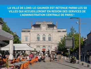 Lons-le-Saunier va accueillir un service des finances publiques transféré de Paris