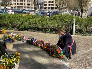 Commémoration du 59ème anniversaire du cessez le feu de la guerre d'Algérie à Lons le Saunier