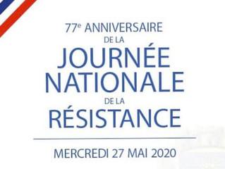Journée Nationale de la Résistance, pour ne pas oublier.