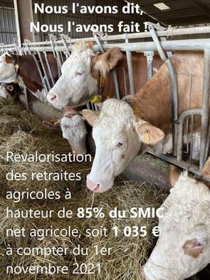 Revalorisation de la retraite des agriculteurs