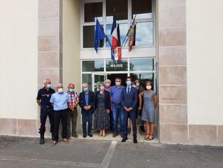 Visite de la commune de Courlaoux aux côtés du Sous Préfet du Jura