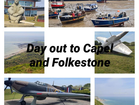 Visit to the Battle of Britain memorial and the harbour, Folkestone