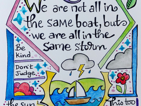 We are not all in the same boat, but we are all in the same storm..
