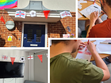 Homersham getting ready for the England football final....