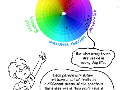 The Spectrum consists of many different traits or ways in which the brain processes information....