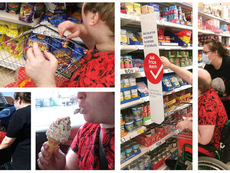 A shopping trip and a cheeky ice cream....