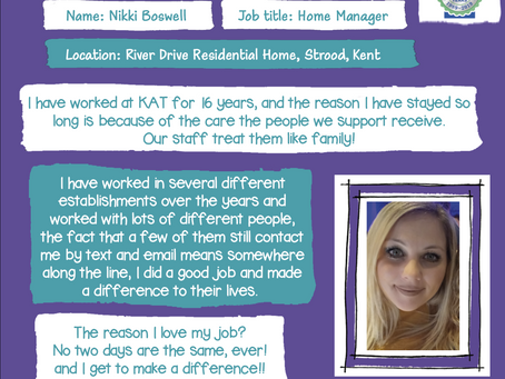 Our Manager at River Drive shares why she loves her job!!
