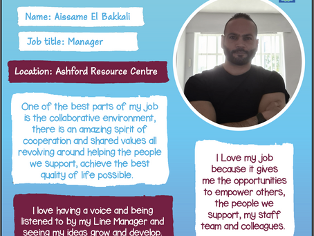 Aissame El Bakkali, Manager of our Ashford Resource Centre, shares why he loves working for KAT