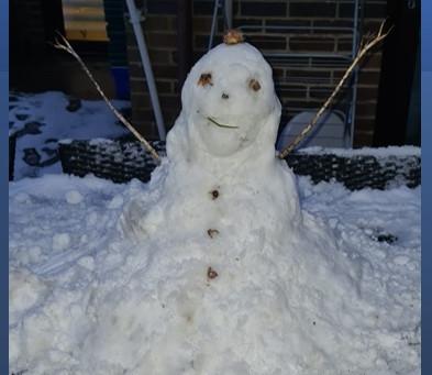 What a fantastic snowman....