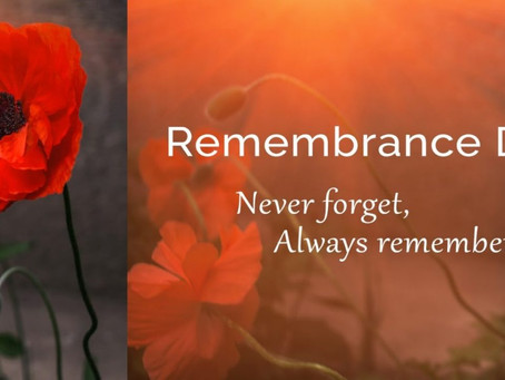 Lest we forget, remember from home