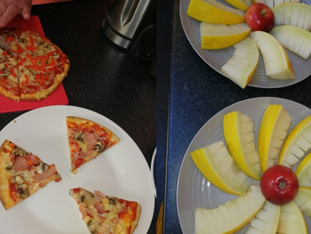 Pizza making time at our Lock Street Day Centre in Gillingham