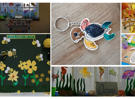 Residents create a marine theme and Autumn reality tree at Lock Street day centre