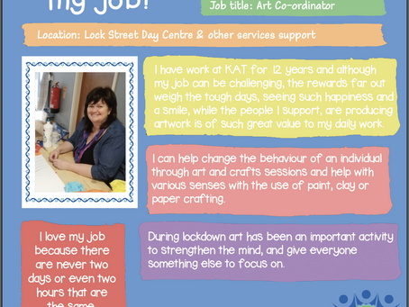 Here's why our Art Co-ordinator, Carol Butcher loves her job....