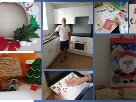 Lock Street get crafty while our maintenance man Harry works hard replacing our upstairs kitchen....