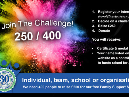 Join our 250 / 400 Challenge - it's simple & easy!