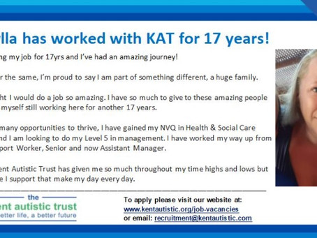 Read why Mikaylla has worked at KAT for 17yrs.