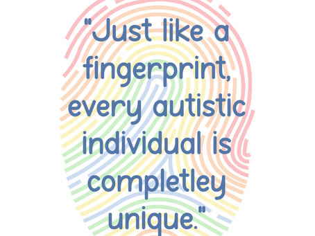 Just like a fingerprint, every autistic individual is completely unique!!