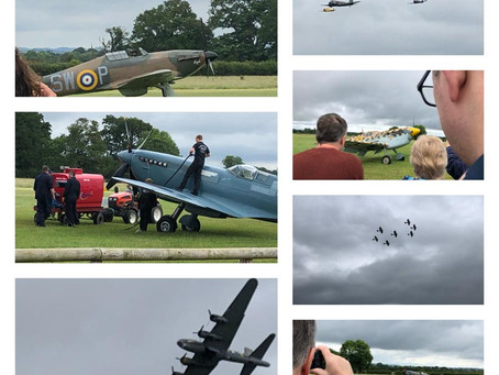 Wayfield Road visit The Battle of Britain air show in Headcorn....