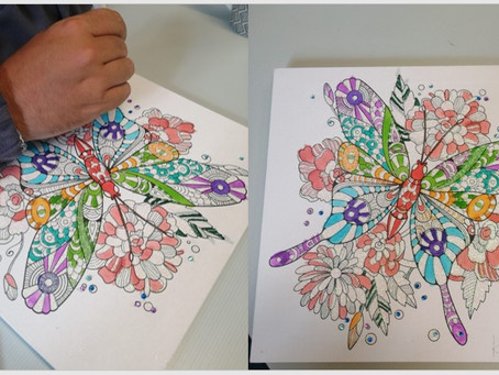 A beautiful picture created by one of the people we support at Newton Close Day Centre!