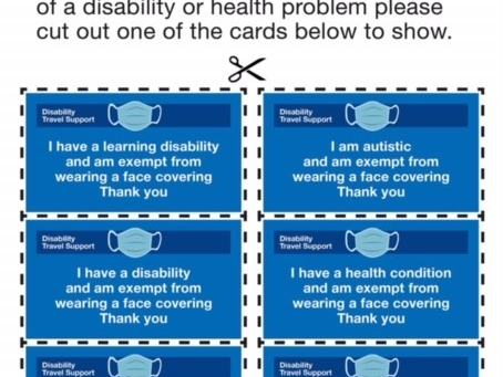 Face Covering Exemption Cards - Printable
