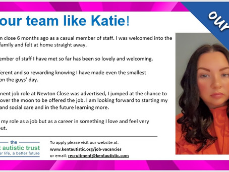 Read why Katie loves working at KAT