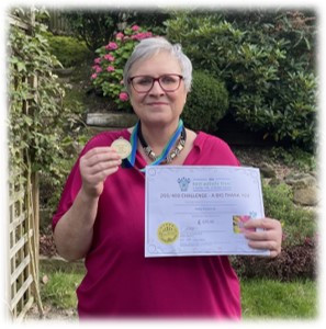 A big thank you to Sally Richards for raising £675 for our Family Support service....