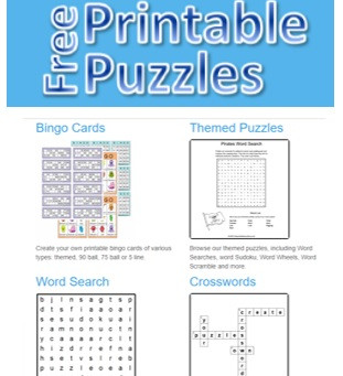 Free printable puzzles....a fantastic activity to customize for all!!