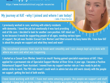 Jodie is celebrating 5 years with KAT!