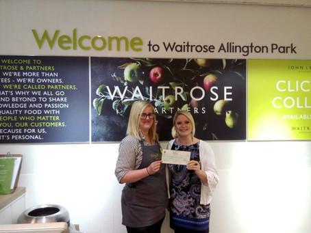 Waitrose Allington raise £597 for KAT