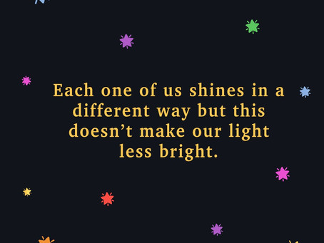 Each one of us shines ⭐