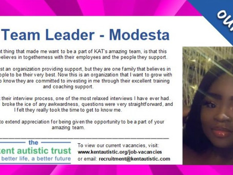 Read why Modesta joined KAT....