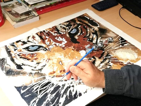 What a talent! Fantastic tiger painting by one of the people we support at ARC....
