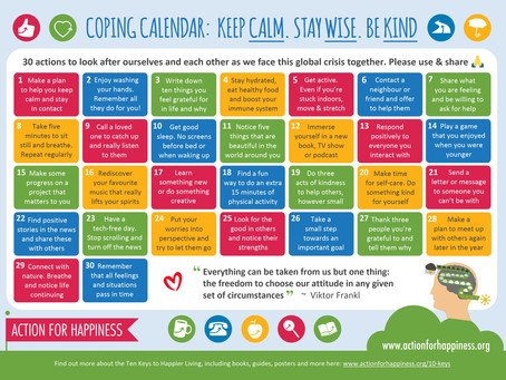 Coping Calendar - a resource you may find helpful