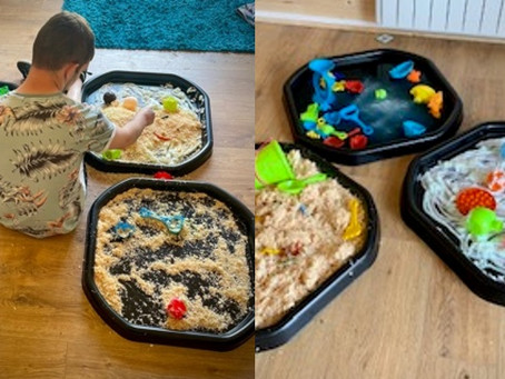 Tuff Trays, a messy, but fun activity!