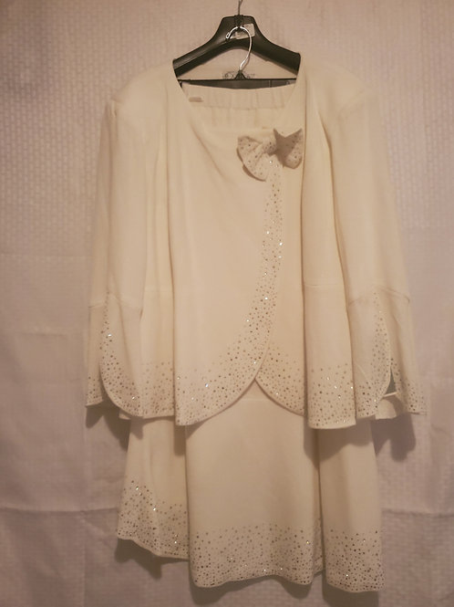 Dorinda Clark-Cole Collection 2pc Ivory Skirt Set