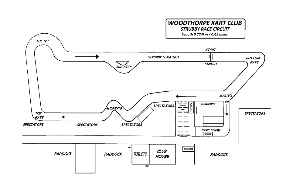 Woodthorpe Kart Club Track Map